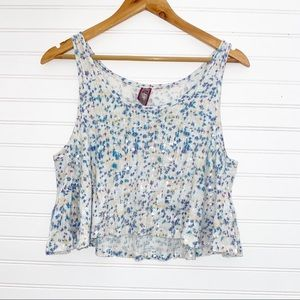 Free People Sequins crop Top Size Small